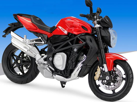 MAISTO 11097R SCALA 1//12 MV AGUSTA BRUTALE 1090 RR 2015 RED SILVER MODEL NEW