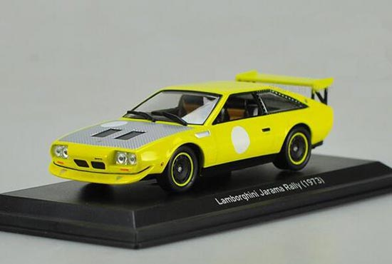 Diecast 1973 Lamborghini Jarama Rally Model 1:43 Yellow By IXO [VB1A882]