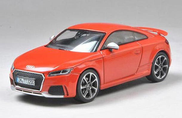 1//43 Audi TT RS Coupe Green Diecast Car model Collection Toy