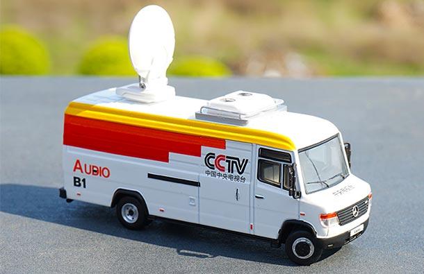 GCD 1:64 Benz Vario Heavy Van China Mobile// CCTV//PoliceDiecast Model Car